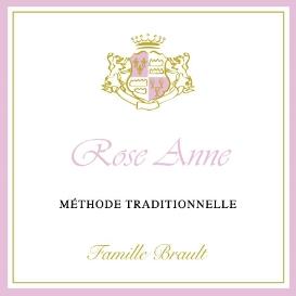 Etiquette Méthode traditionnelle Rosé Brut